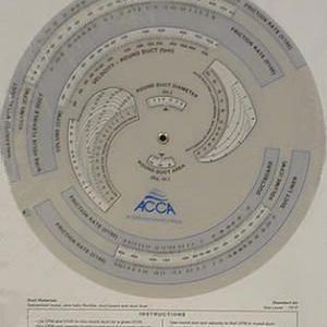 ACCA Duct Slide Rule