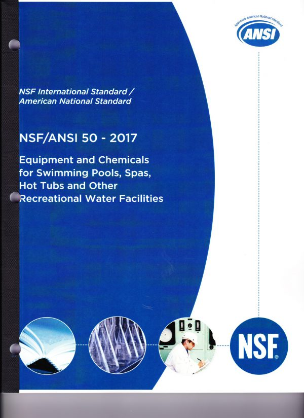 ANSI NSF 50 2017 equipment for swimming pools spas hot tubs and other recreational water facilities