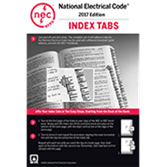 NFPA 70 National Electrical Code or handbook self adhesive index tabs 2017