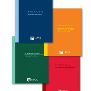 NRCA Roofing Manual four volume set